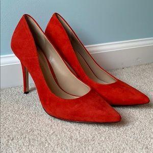 Red Suede BCBG Party Heels 👠